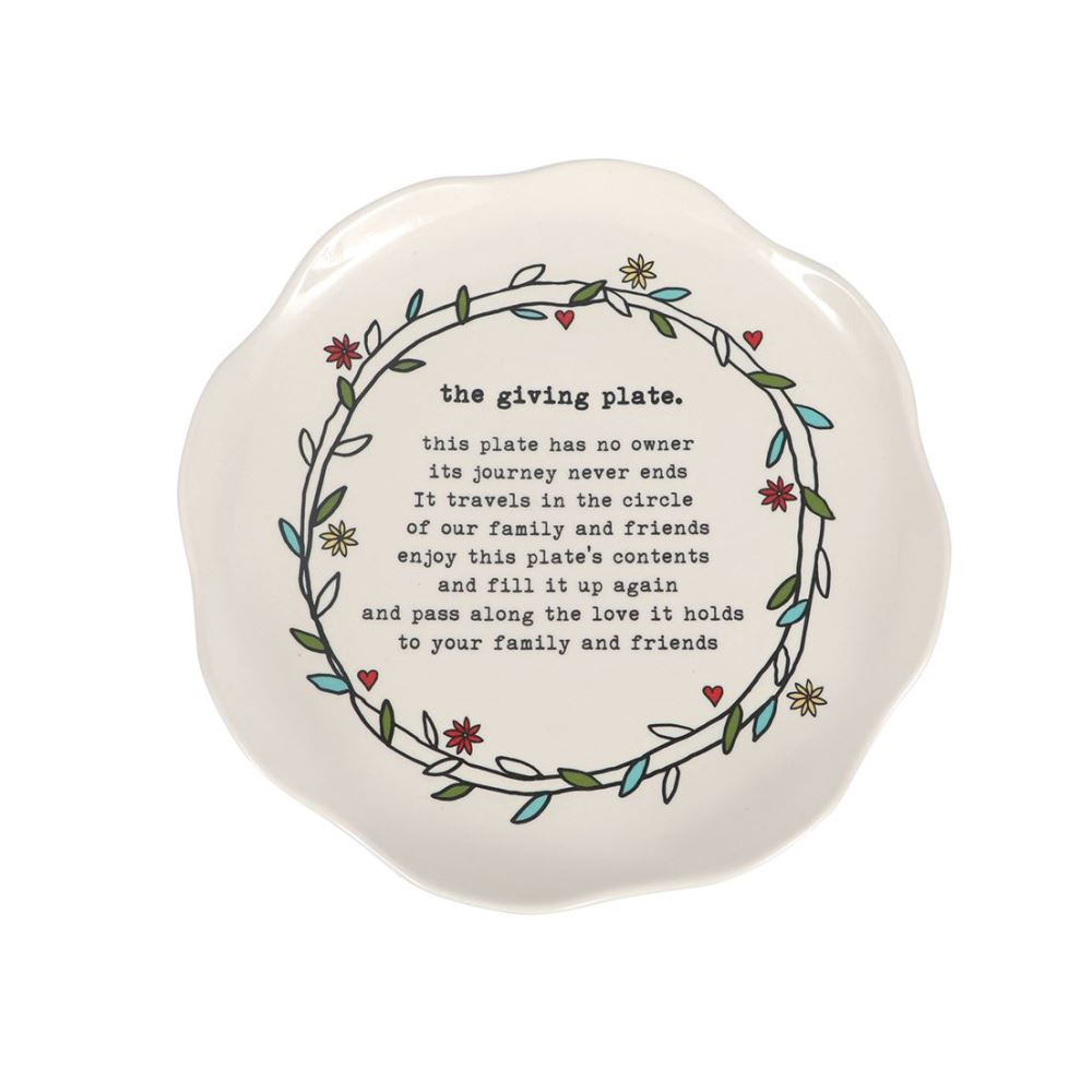 The Giving Plate - Stoneware - Happy Home Floral - 10in