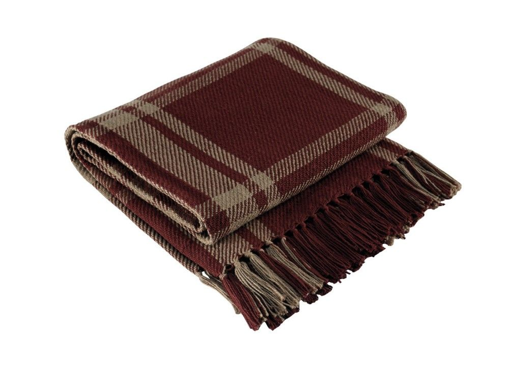 Park Designs Yarn Throw Blanket - Sturbridge Wine - 50in x 60in
