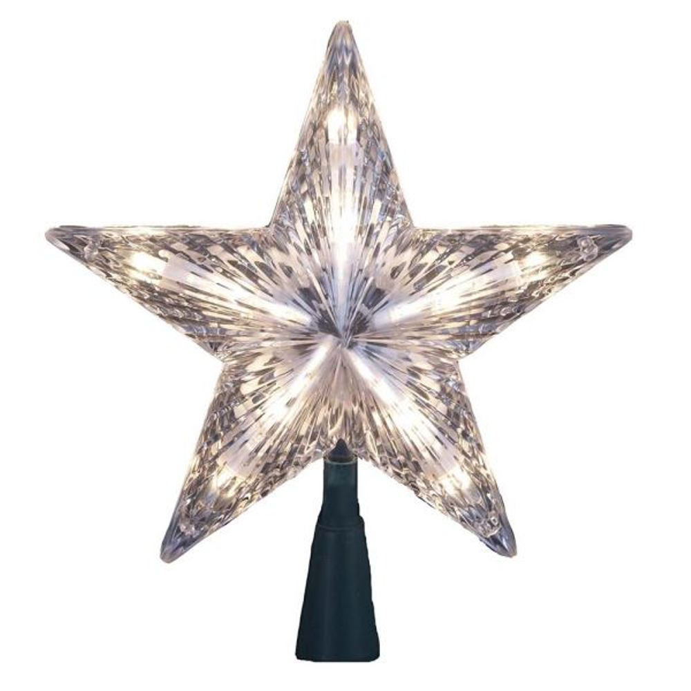 Electric Tree Topper - Clear Star - 7in