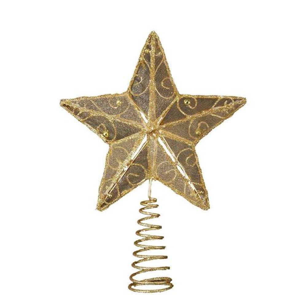 Tree Topper - Gold Wire Star - 6.25in