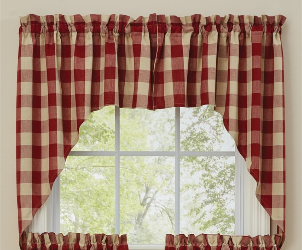 Unlined Window Swag - Wicklow Garnet - 72in x 36in