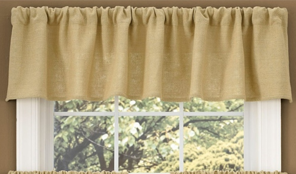 Unlined Window Valance - Burlap - 72in x 14in