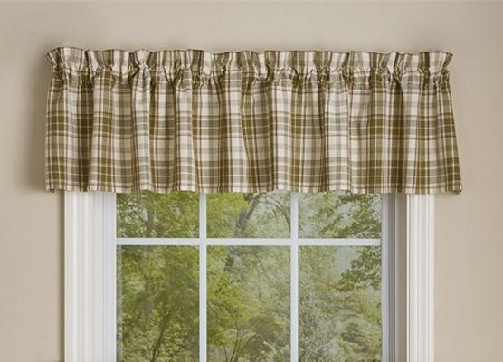 Unlined Window Valance - Cedar Lane - 72in x 14in