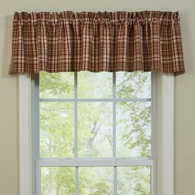 Unlined Window Valance - Cumberland - 72in x 14in