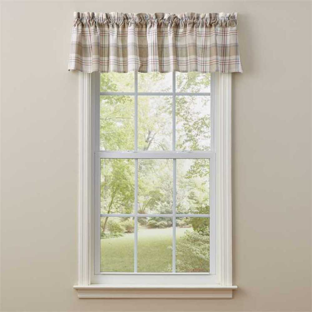 Unlined Window Valance - Landen - 72in x 14in