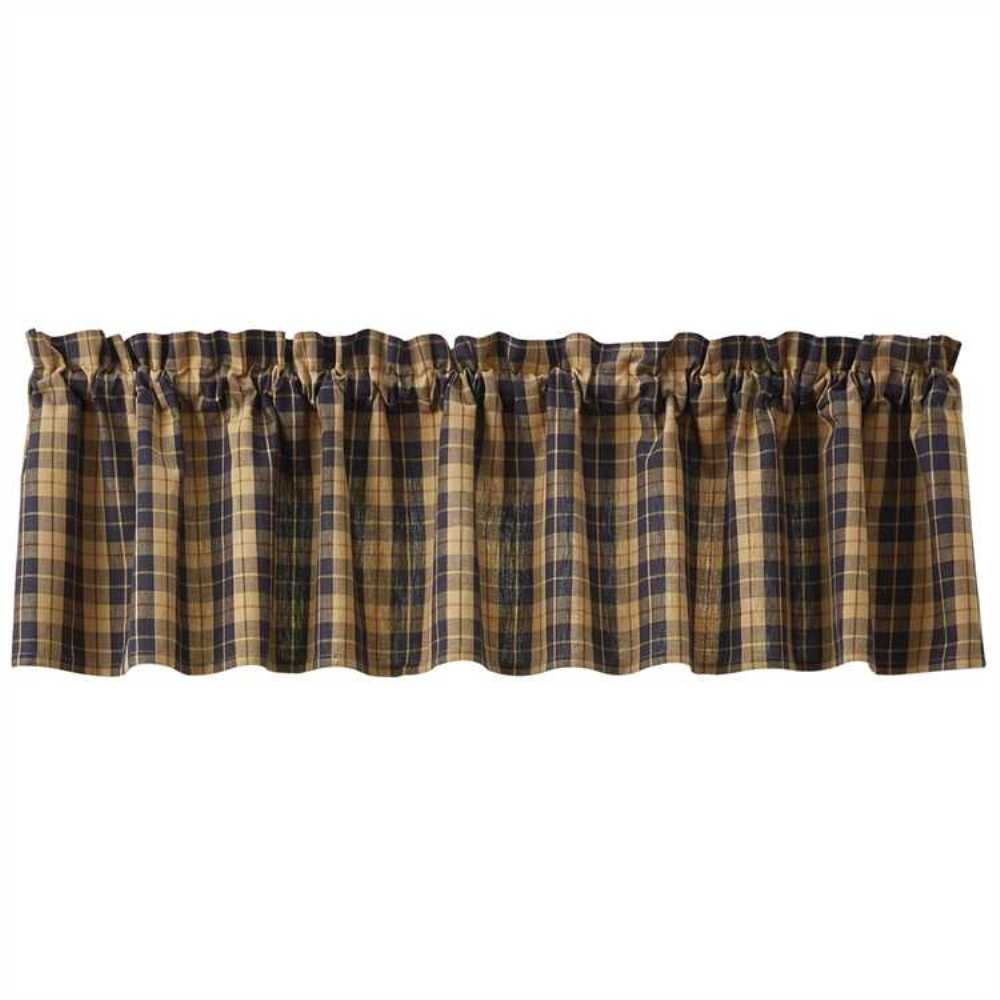 Unlined Window Valance - Pittsfield - 72in x 14in