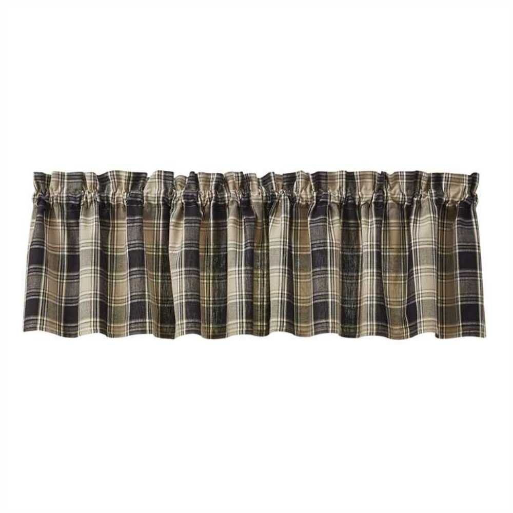 Unlined Window Valance - Soapstone - 72in x 14in