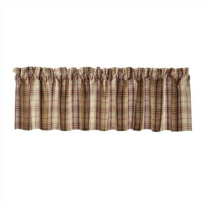 Unlined Window Valance - Stanford - 72in x 14in