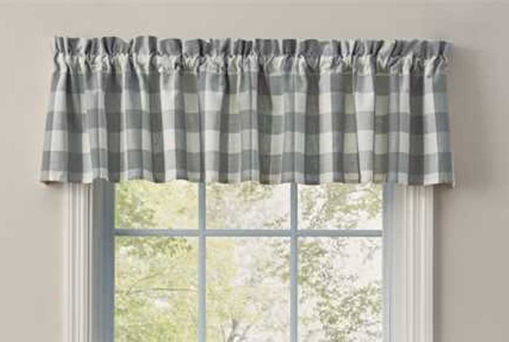 Unlined Window Valance - Wicklow Dove - 72in x 14in