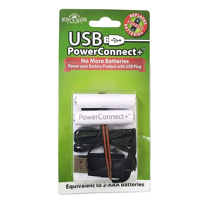 USB PowerConnect+™ 2 AAA Converter - Convert Battery to Electric