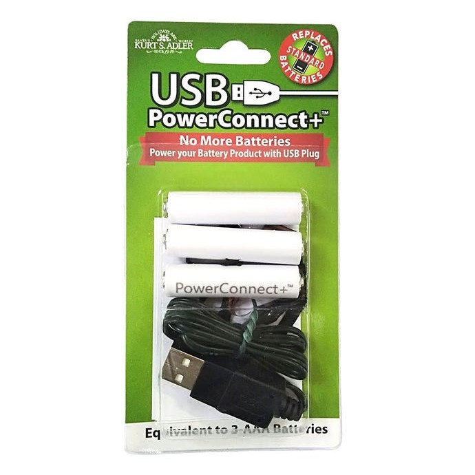 USB PowerConnect+™ 3 AAA Converter - Convert Battery to Electric