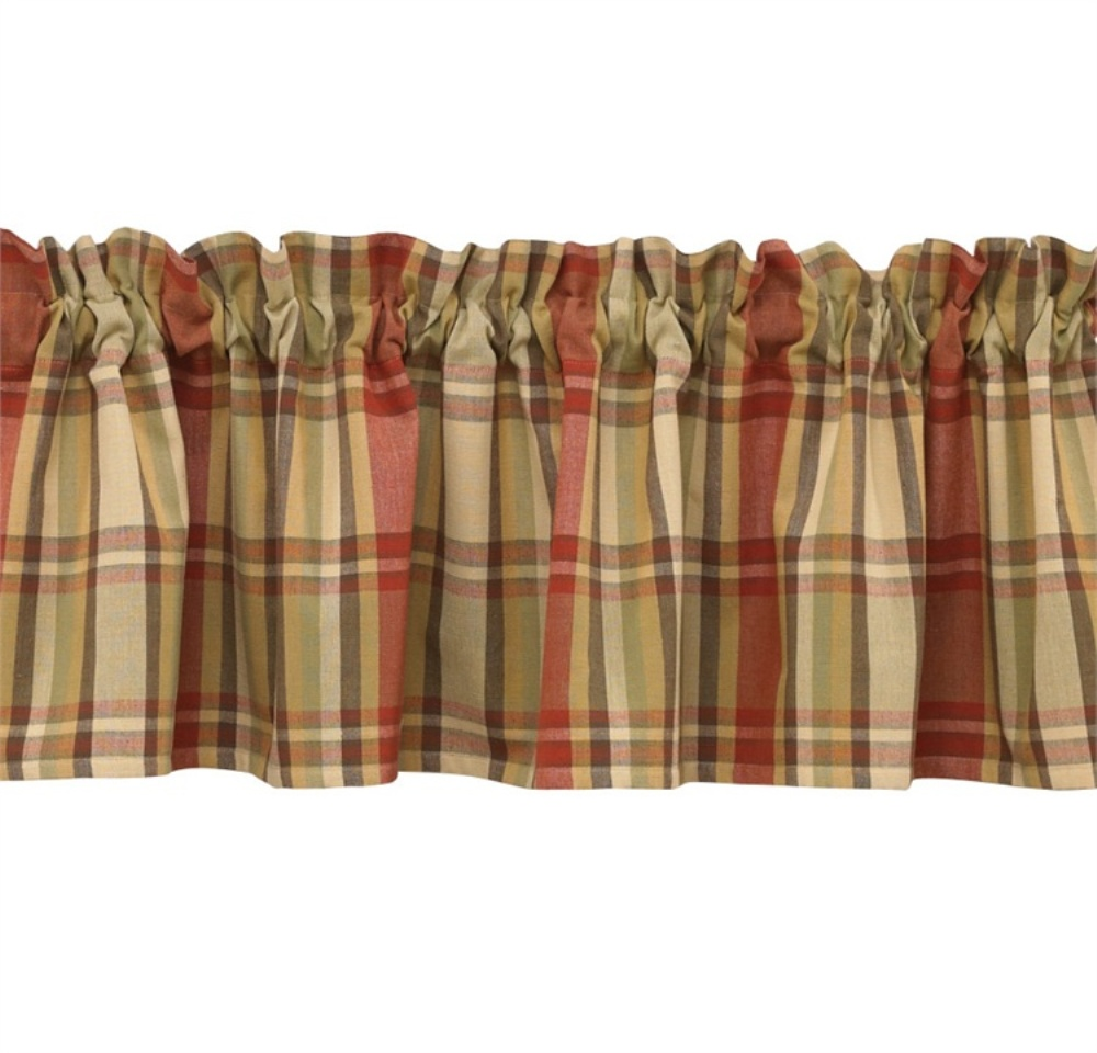Unlined Window Valance - Heartfelt - 72in x 14in