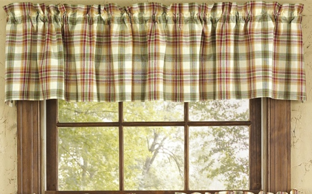 Unlined Window Valance - Lemon Pepper - 72in x 14in
