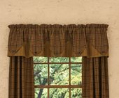 Lined Point Window Valance - Primitive Spice - 72in x 15in