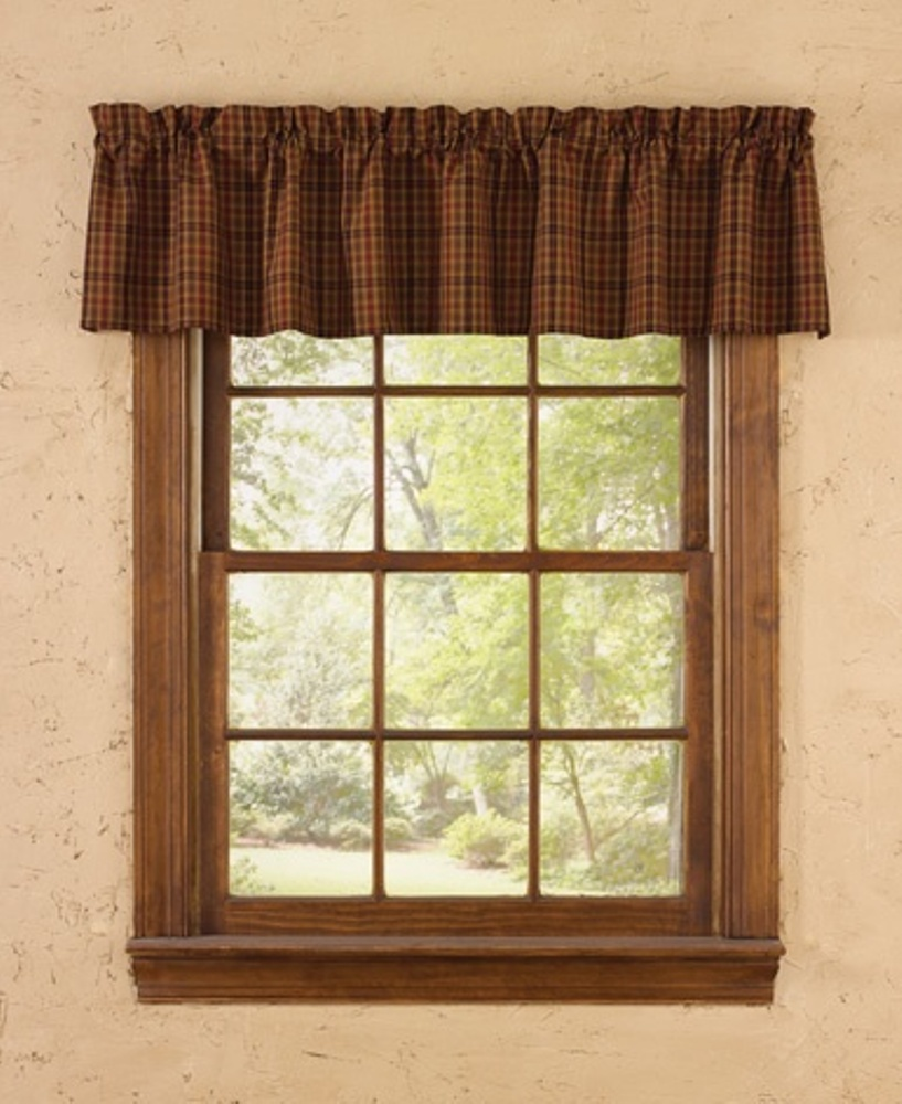 Unlined Window Valance - Primitive Spice - 72in x 14in