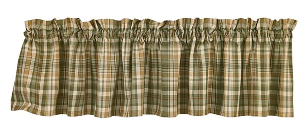 Unlined Window Valance - Rosemary - 72in x 14in