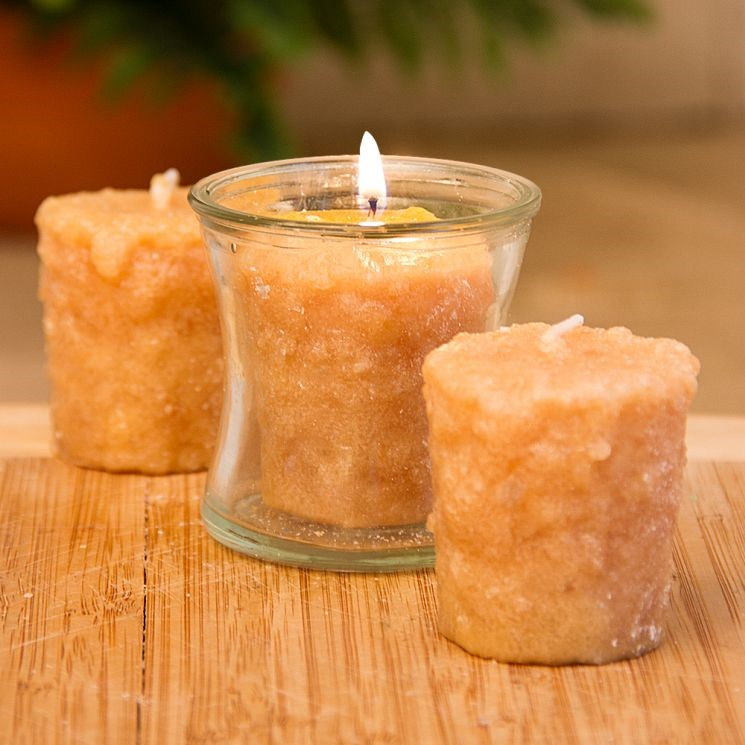 Votive Cake Candle - Belgian Pecan Waffle - 1in x 2in - 3 Pack