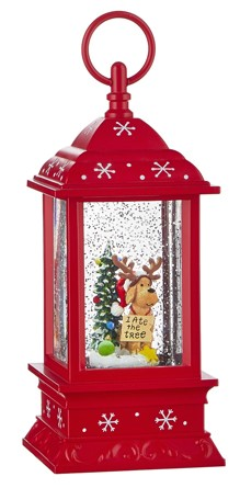Water Lantern - Dog with Antlers - Battery Operated - 9.5in