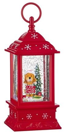 Water Lantern - Dog with Cookies - Battery Operated - 9.5in