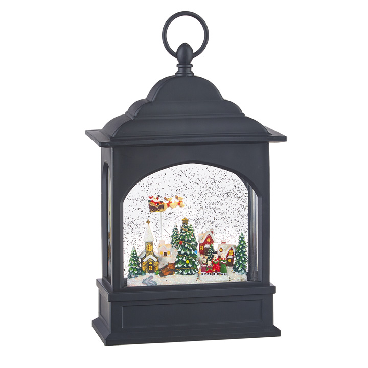 Water Lantern - Flying Santa - Battery Operated - 11in