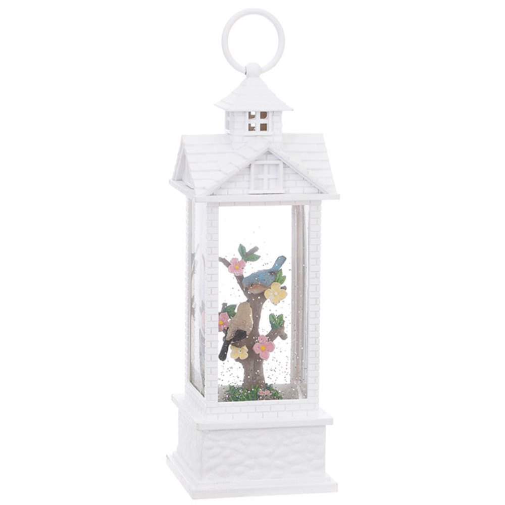 Water Lantern - Gazebo with Birds - Battery Operated - 11in
