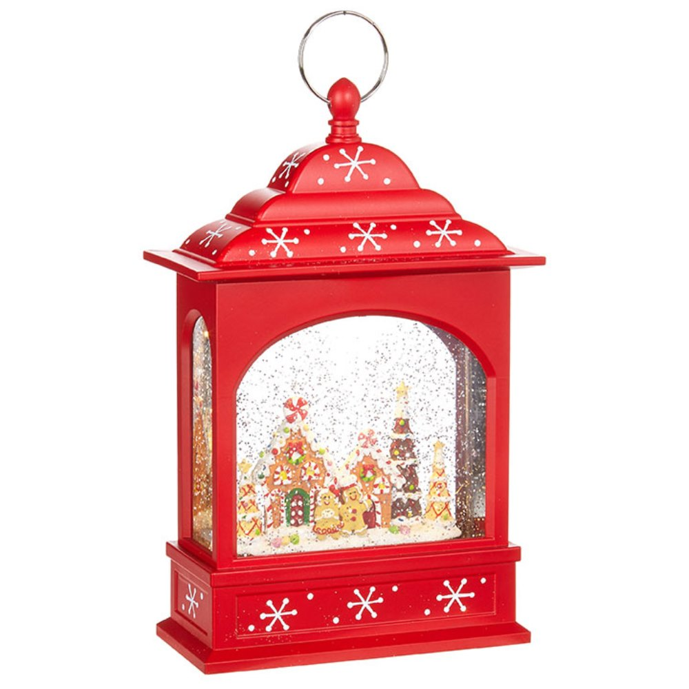 Water Lantern - Gingerbread - Battery Operated - 11in