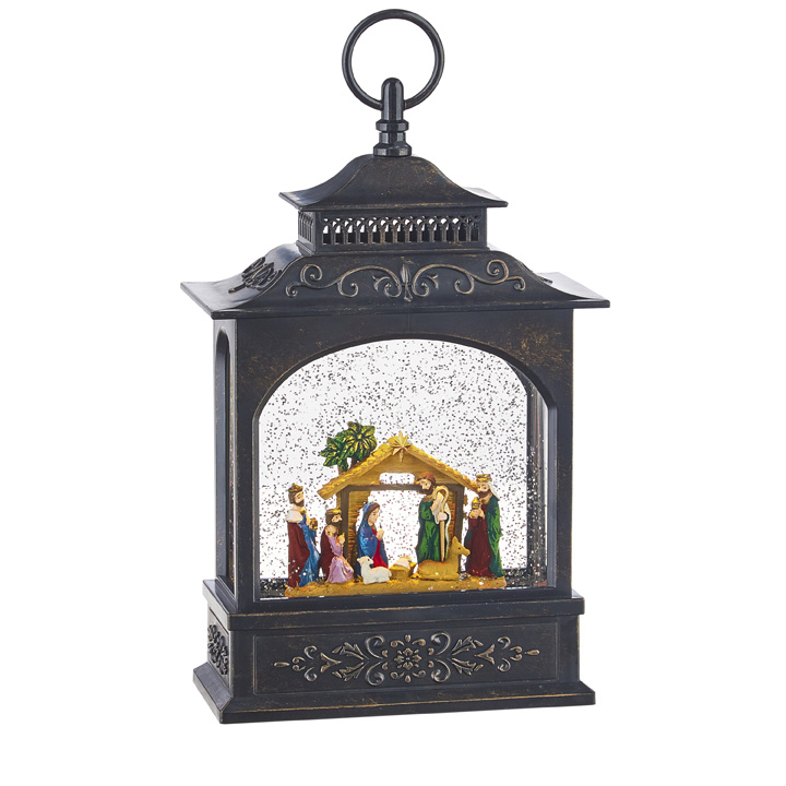 Water Lantern - Nativity - Battery Operated - 11in