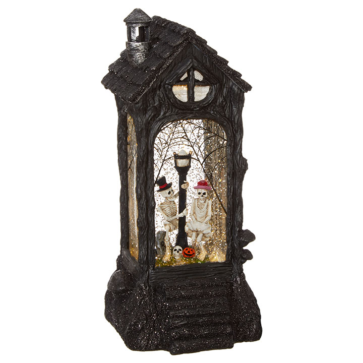 Water Lantern - Skeleton Couple - Battery Operated - 11.5in