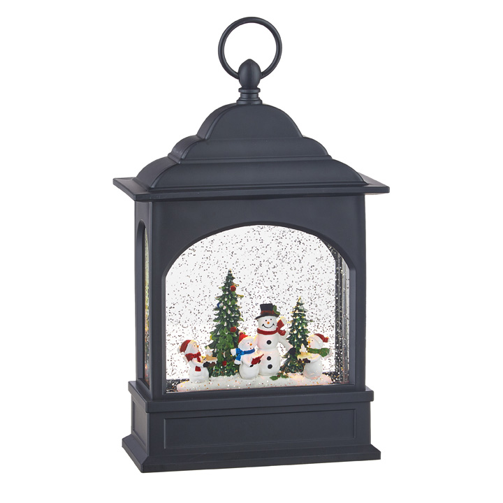 Water Lantern - Snowman Carolers - Battery Operated - 11in