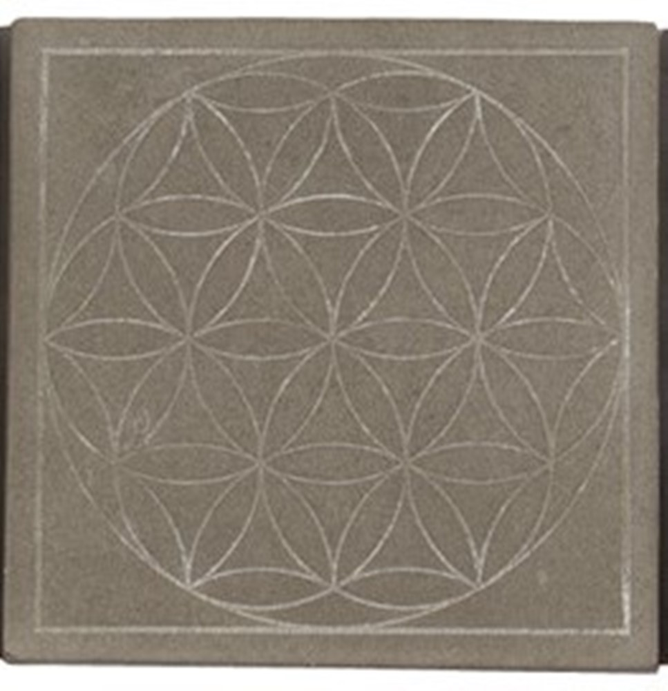 Wax Pottery Scented Geo Tile Base - Habersham - Flora - 4.5 Inch