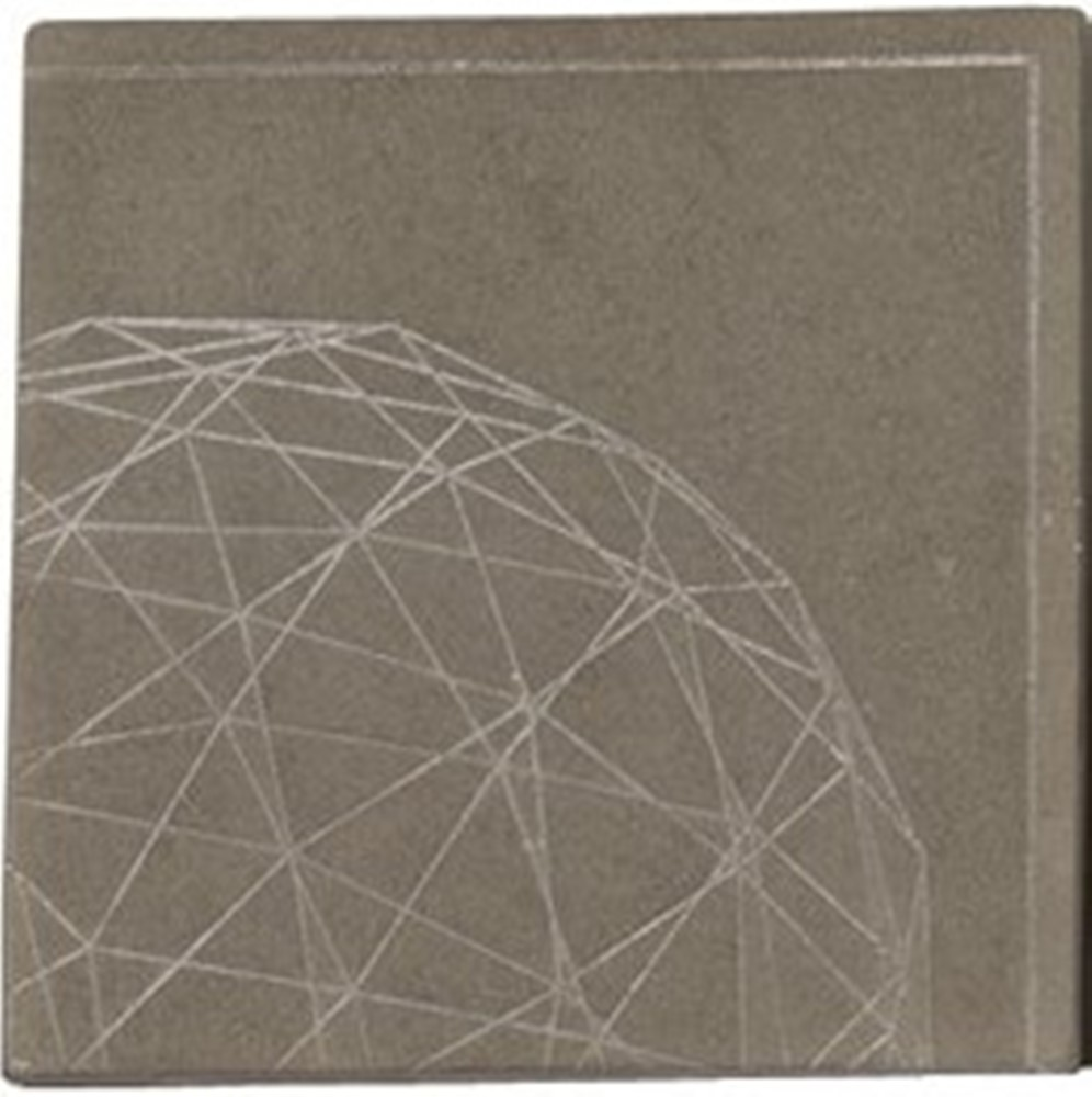 Wax Pottery Scented Geo Tile Base - Habersham - Terra - 4.5 Inch