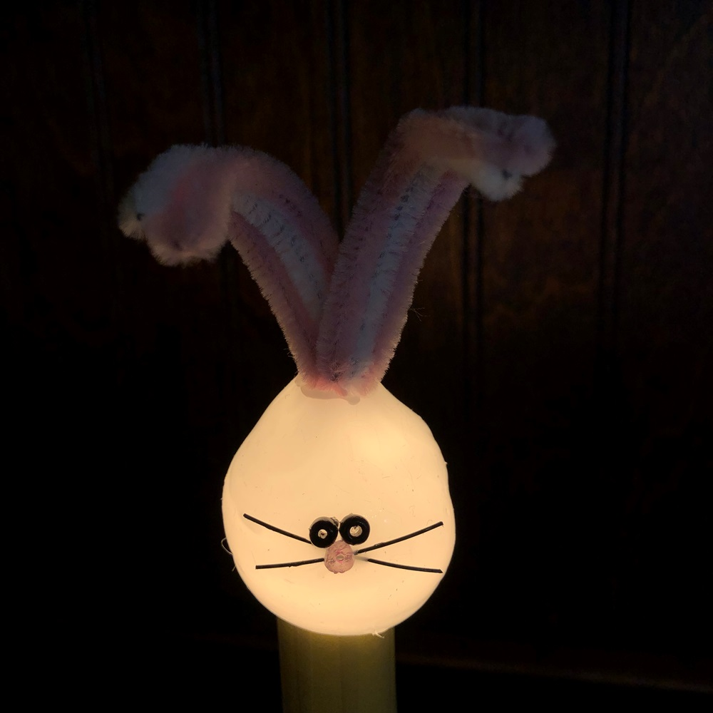 White Bunny Light Bulb - Candelabra Base - 4 Watts