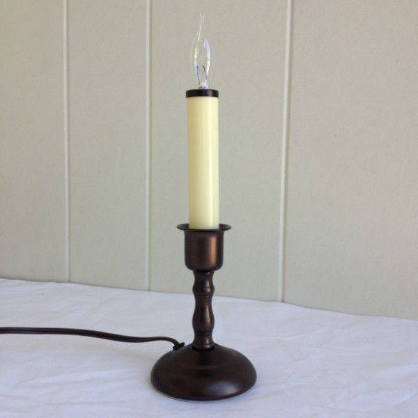Window Candle - Chesapeake Electric Light - Antique Bronze - Dusk-to-Dawn Sensor
