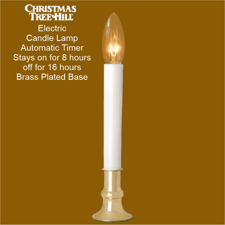 Window Candle - Electric Window Candle - Auto Timer- Brass Base