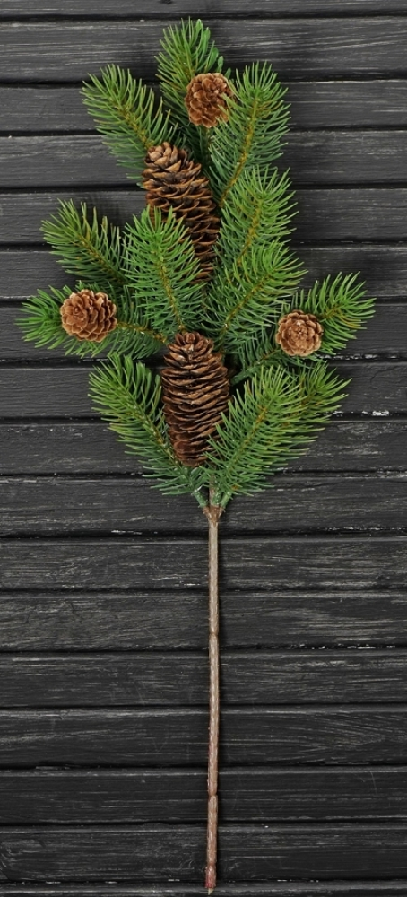 Winter Artificial Spray - Tahoe Pine with Pinecone - 19 Inch