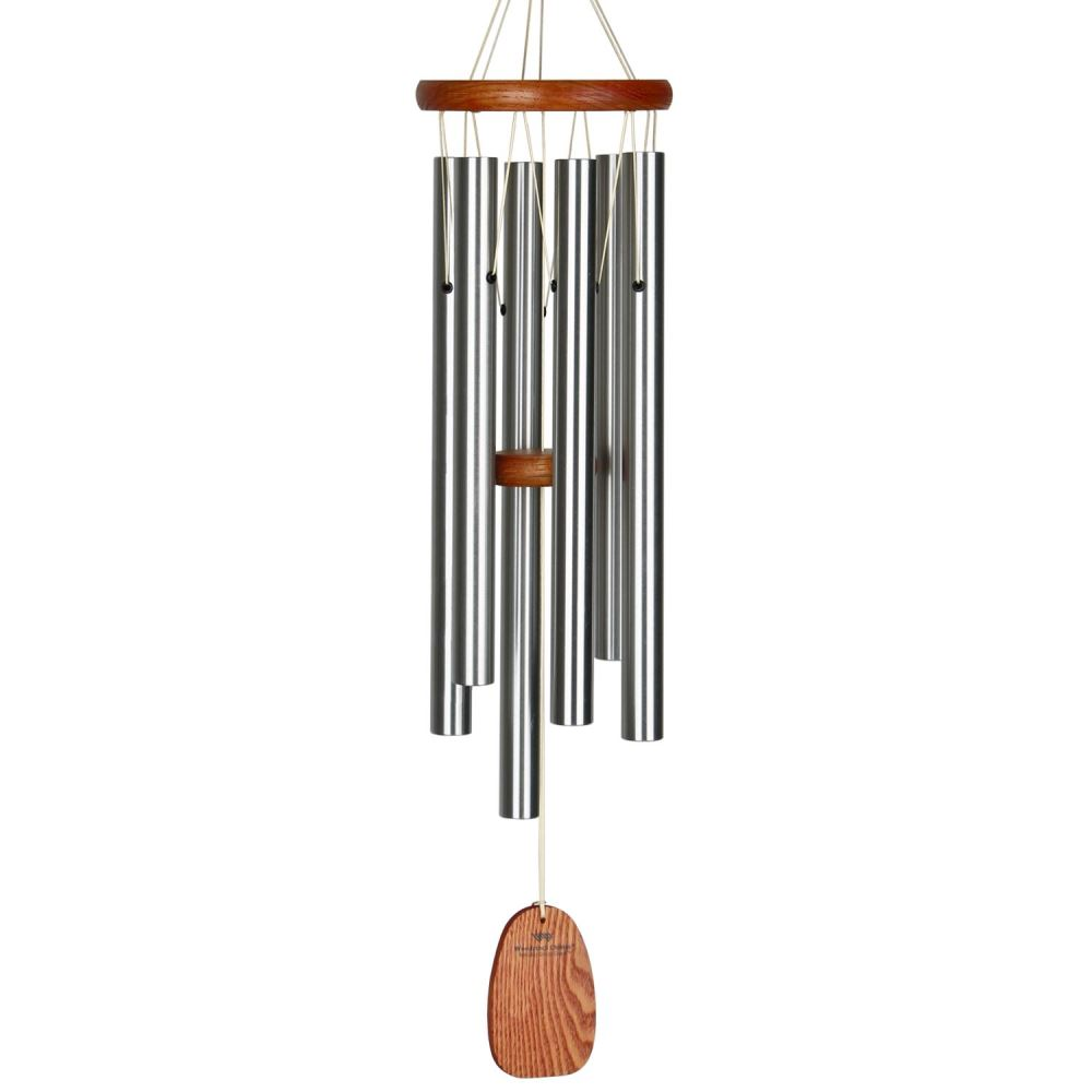 Woodstock Windchimes - Amazing Grace Chime - Medium - Silver