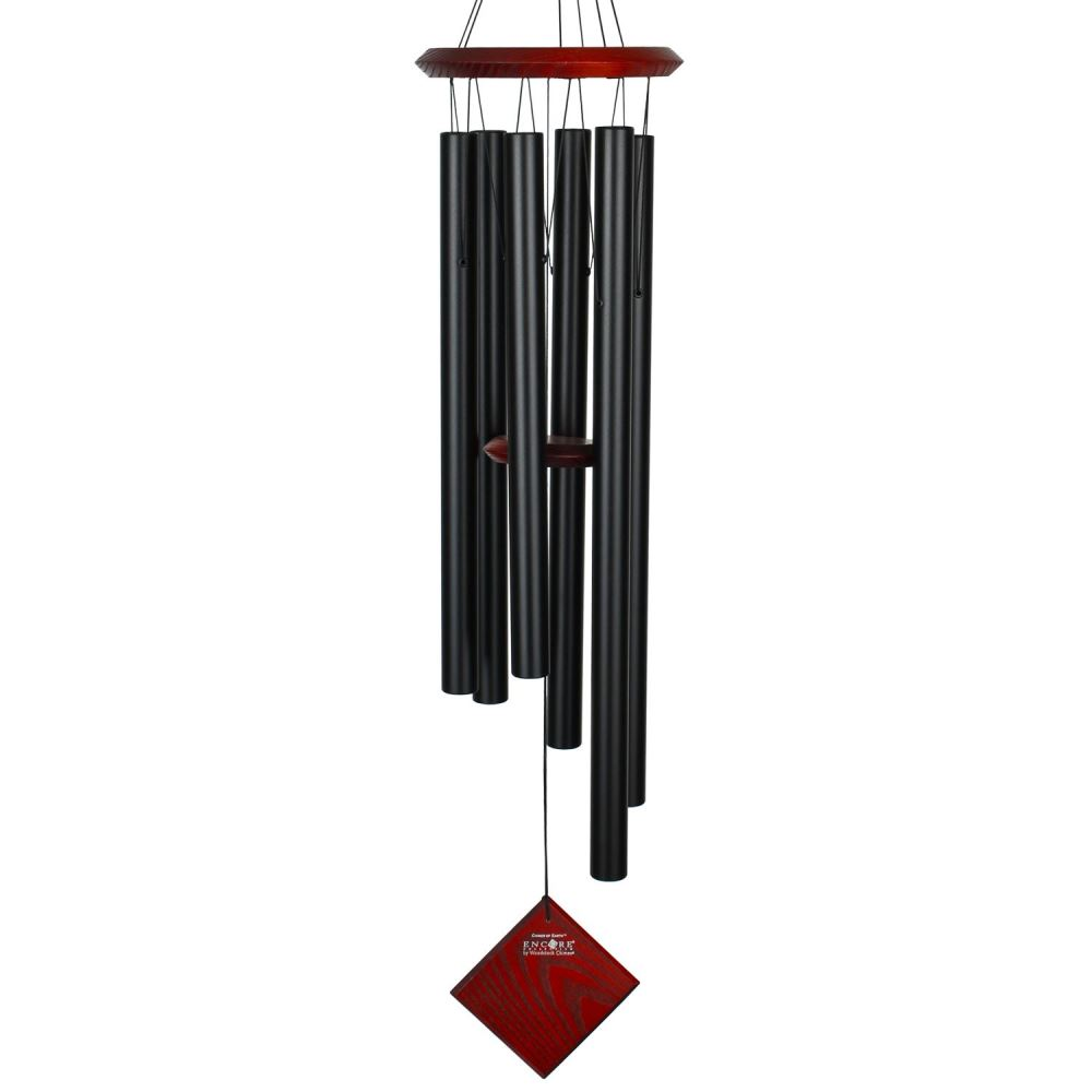 Woodstock Windchimes - Chimes of Earth - Black
