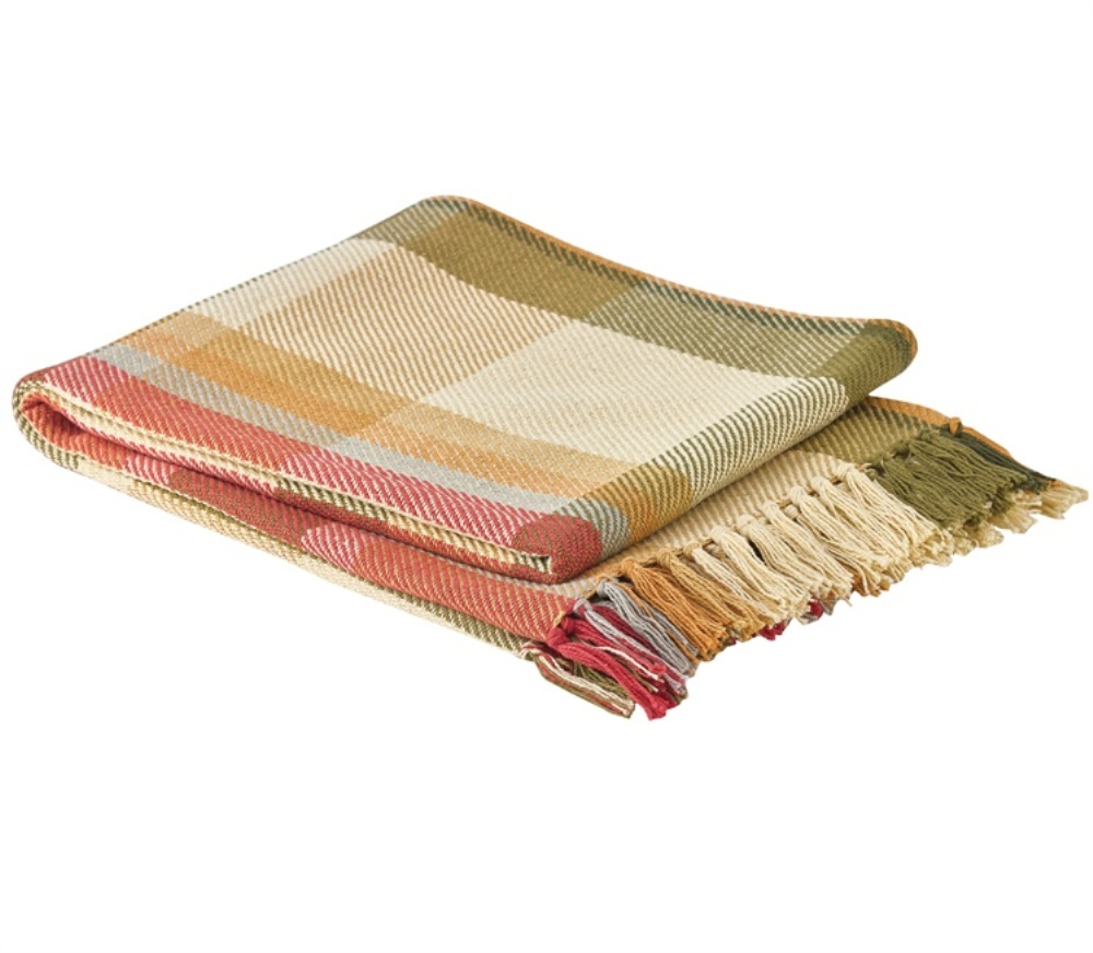 Park Designs Woven Throw Blanket - Lemon Pepper - 50in x 60in