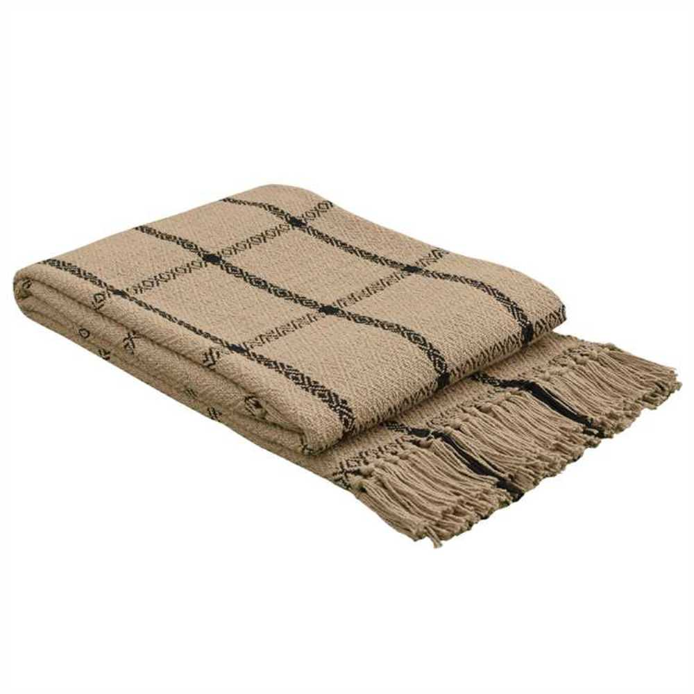 Woven Throw Blanket - Stoneboro Check - 50in x 60in