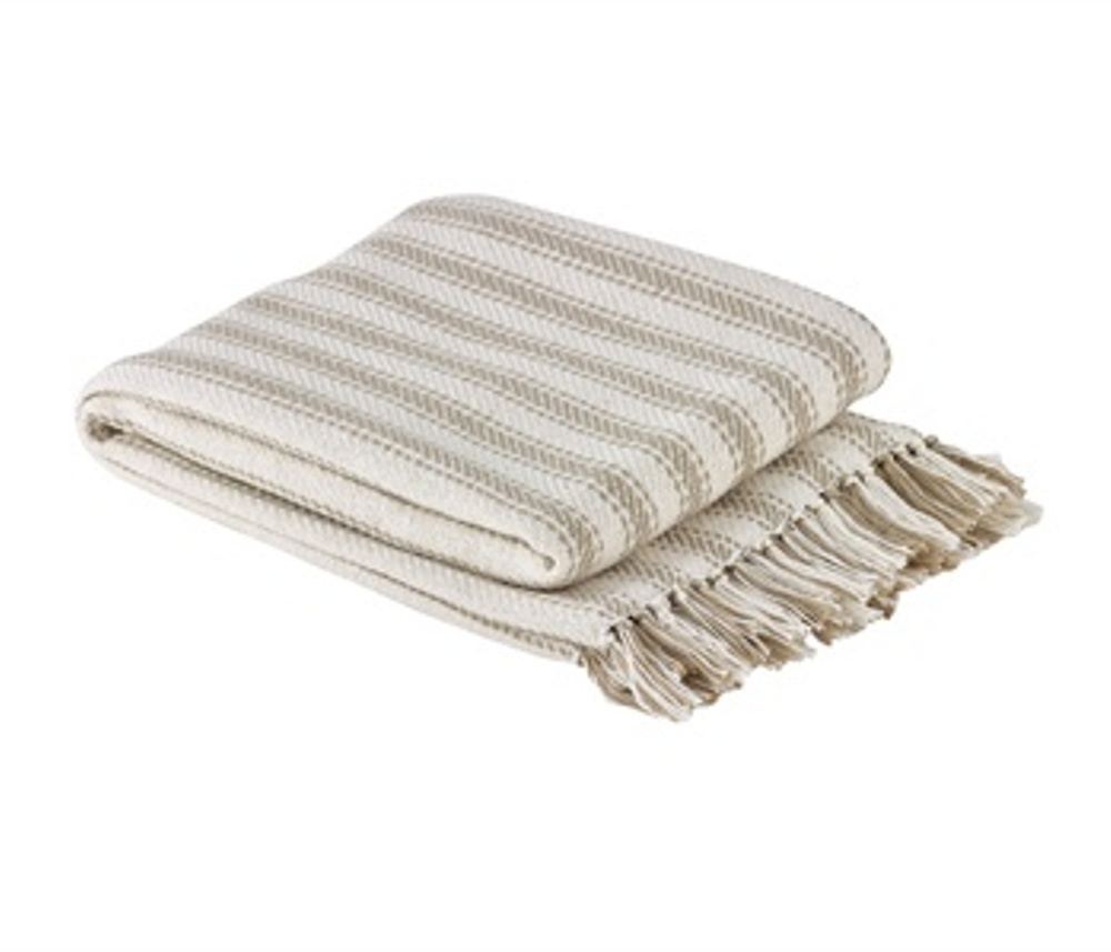 Woven Throw Blanket - Ticking - 50in x 60in
