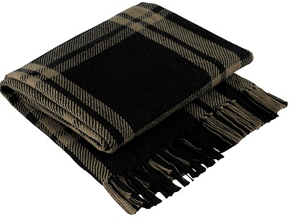 Park Designs Yarn Throw Blanket - Sturbridge Black - 50in x 60in
