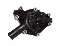 CVF - Black Chrysler 318-340-360 Engine Water Pump, High Flow, Aluminum