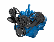 CVF - Black Diamond Serpentine System for AMC Jeep 304, 360 & 401 - Alternator Only - All Inclusive