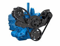 CVF - Stealth Black Serpentine System for AMC Jeep 304, 360 & 401 - AC & Alternator - All Inclusive