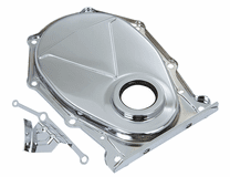 Mancini Racing Chrome Timing Cover, w/Oil Seal