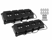 MR. GASKET FABRICATED VALVE COVERS - 5.7L-6.4L MOPAR GEN III HEMI - BLACK FINISH