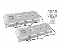 MR. GASKET FABRICATED VALVE COVERS - 5.7L-6.4L MOPAR GEN III HEMI - SILVER FINISH