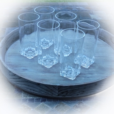 Clear Acrylic Tumblers Set/6