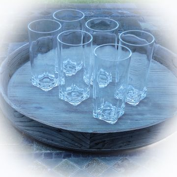 Clear Acrylic Tumbler Set