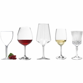 Clear Acrylic Wine Glasses